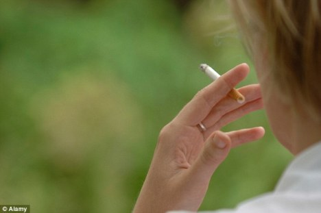 Give up the cigarettes to cut stress
