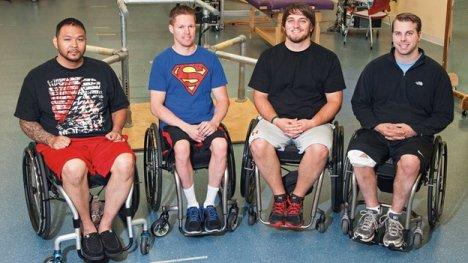 paralysed men